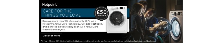 Hotpoint active care cashback