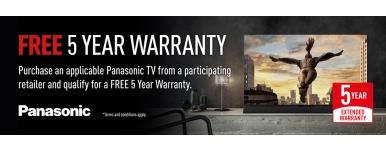 Panasonic 5 year warranty